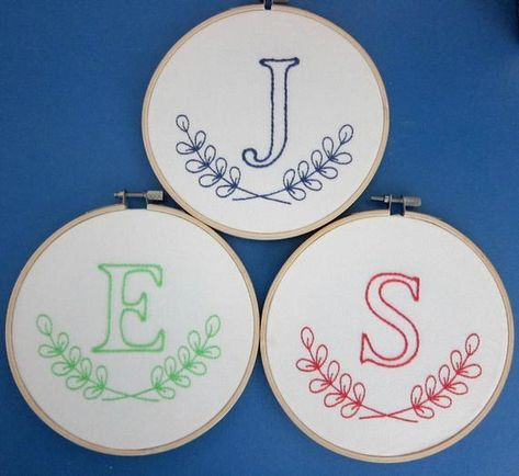 15 Ideas Embroidery Patterns Hand Monogram Letters