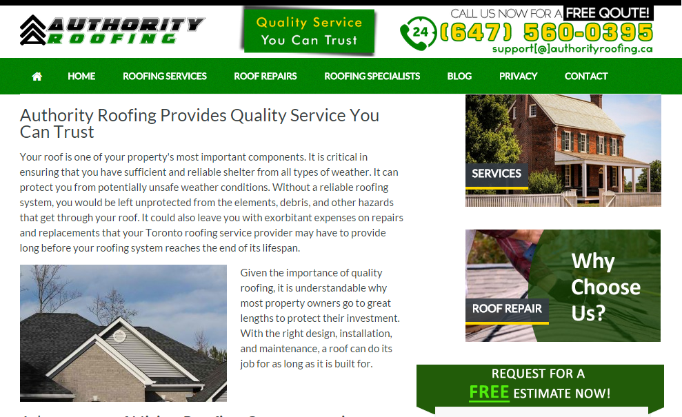 As a part of our commitment to provide quality roofing service in Toronto, we've lunched our official website to effectively extend our service to those who need it the most. Visit our website and know more about us.