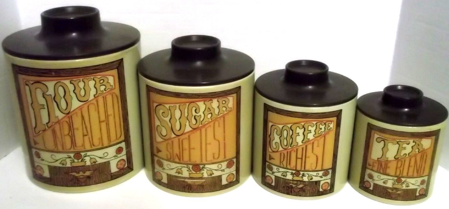 vintage ransburg mid century kitchen canister set tin flour sugar vintage ransburg mid century kitchen canister set tin flour sugar tea coffee ebay