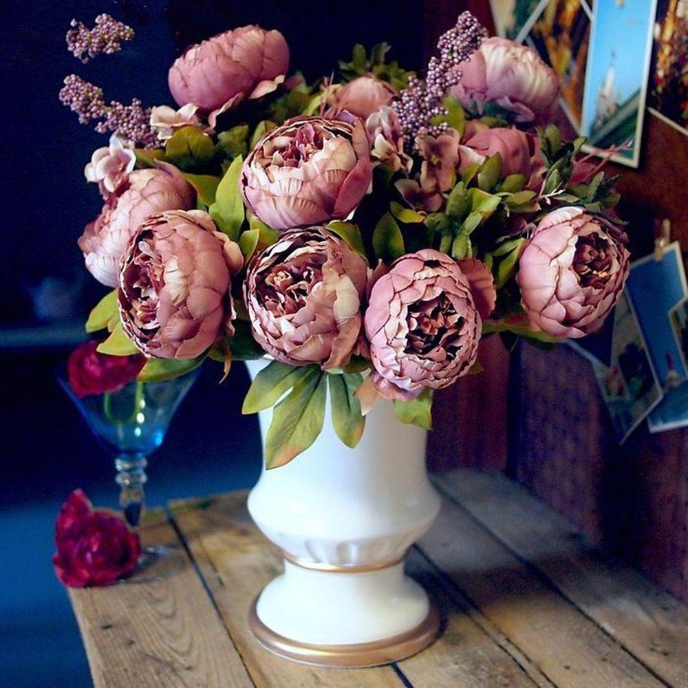 Dcoratifs Pour La Maison Fleurs Europenne Soie Artificielle Fleurs
