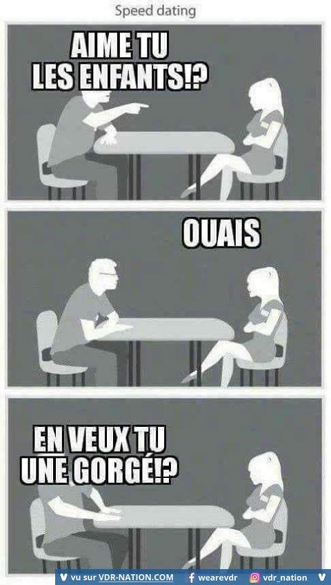 speed dating blague