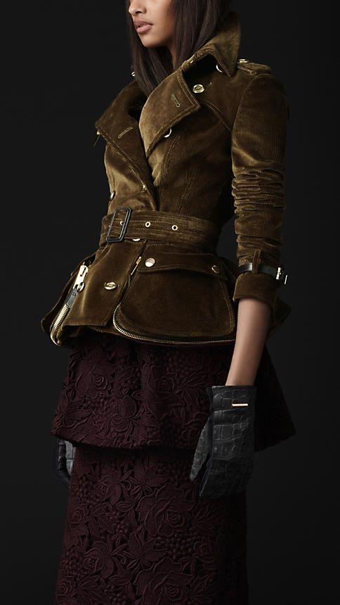 b2e30dd362bd Corduroy Riding Jacket Burberry http   us.burberry.com store trench-coats  womens-trench-coats