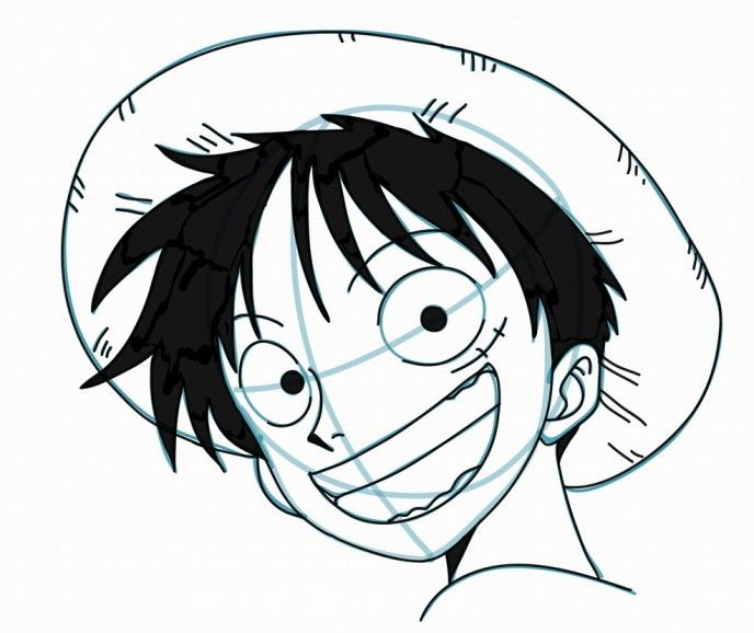How To Draw Luffy From One Piece Drawings Easy Drawings Manga Artist