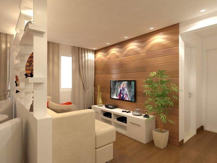 70 ideias de salas pequenas decoradas e lindas para se for Salas pequenas para casas pequenas