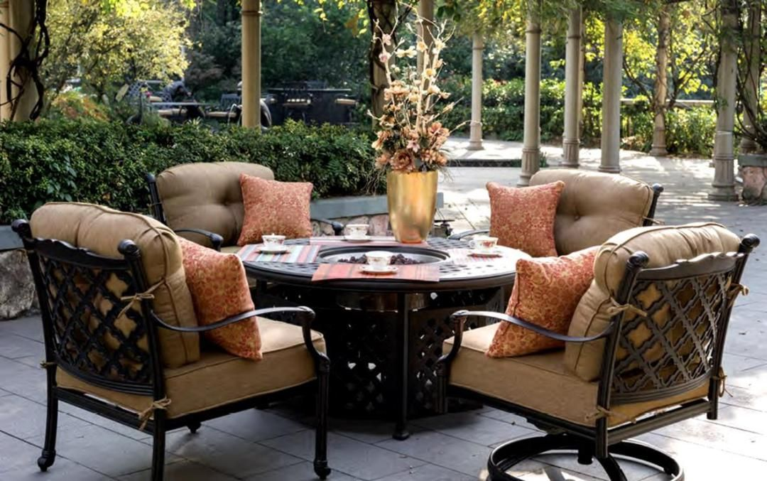best 30 patio furniture with fire pit and chairs gardening and rh pinterest co uk