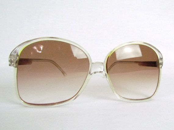 Mod Sunglasses Vintage Classic Italian Sun glasses 1960's MOD Frames Bug Eye Glass Lenses