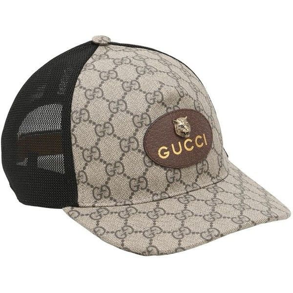 2d4af09a Gucci Men Coated Original Gg Tiger Trucker Hat ($355) ❤ liked on Polyvore  featuring