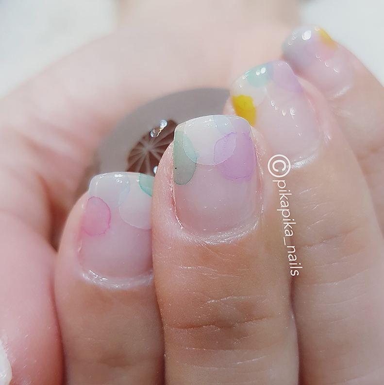rainbow boom  #셀프네일 #cute #watercolor #fashion #nailartjunkie #art #beauty #ネイルサロン #nail #watercolornails #naildesign #nailsalon #selfnail #design #네일 #polish #nailart #watercolornail #ネイルアート #ネイル #nailswag #wedding #pikapika_nails #수채화네일 #gelnail #젤네일 #네일아트 #nailpolish #nails #watercolornailart