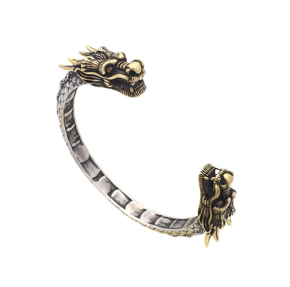 Jsbao new design vintage stainless steel accessories dragon