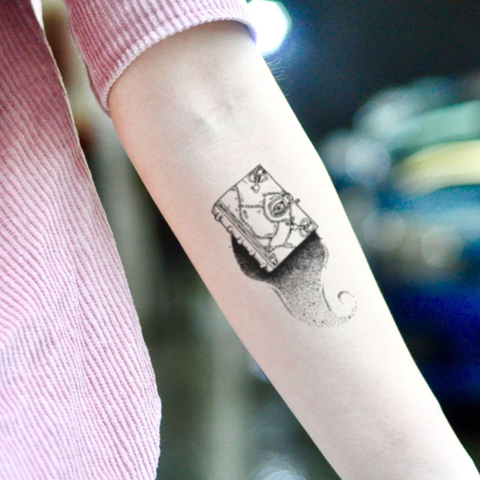 Hocus Pocus Spellbook Temporary Tattoo Sticker Set Of 2 Sleeve Tattoos Tattoo Stickers Tattoos
