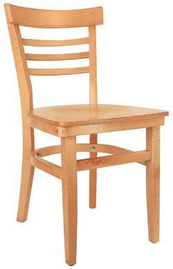 AEY 612 Wooden Ladder Back Chair With Extended Edges