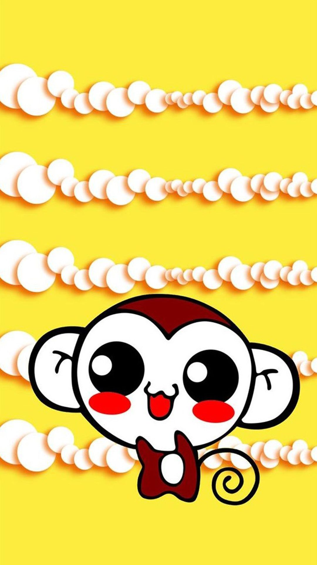Cute Sweet Hippie Monkey IPhone 6 Plus Wallpaper