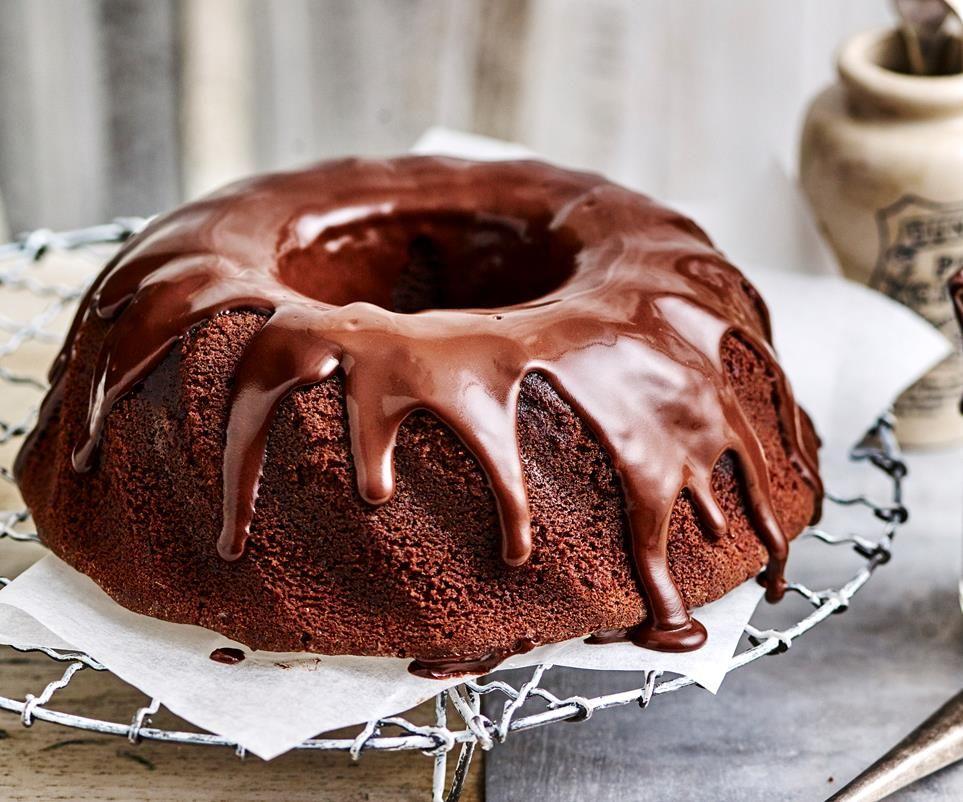 Sour Cream Cake With Dark Chocolate Sour Cream Ganache Recipe Sour Cream Cake Sour Cream Chocolate Cake Cream Cake