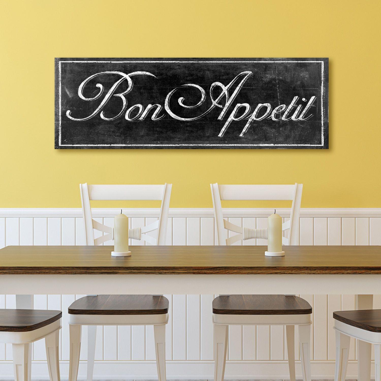 Portfolio Canvas Decor \'Chalkboard - Bon Appetit II\' by IHD Wrapped ...