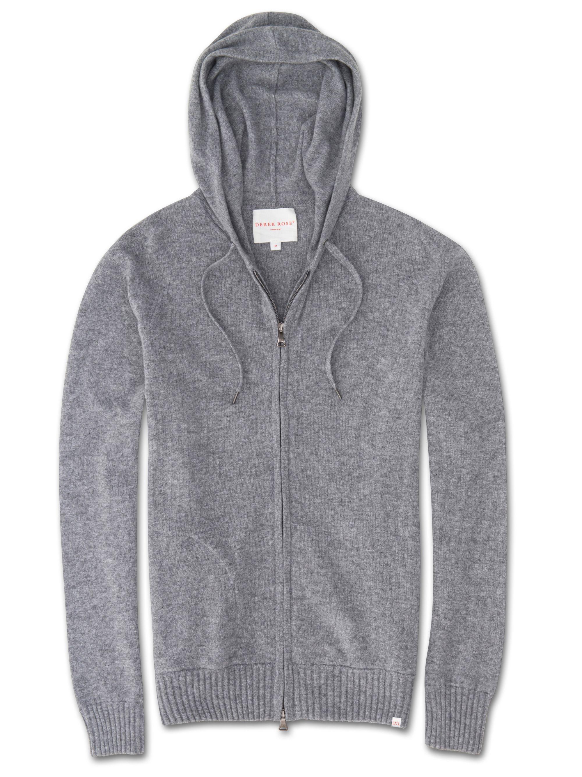 Derek Rose Finley Elange Cashmere Zip Up Hoodie Gray In Grey Modesens Cashmere Hoodie Hoodies Mens Cashmere [ 2667 x 2000 Pixel ]