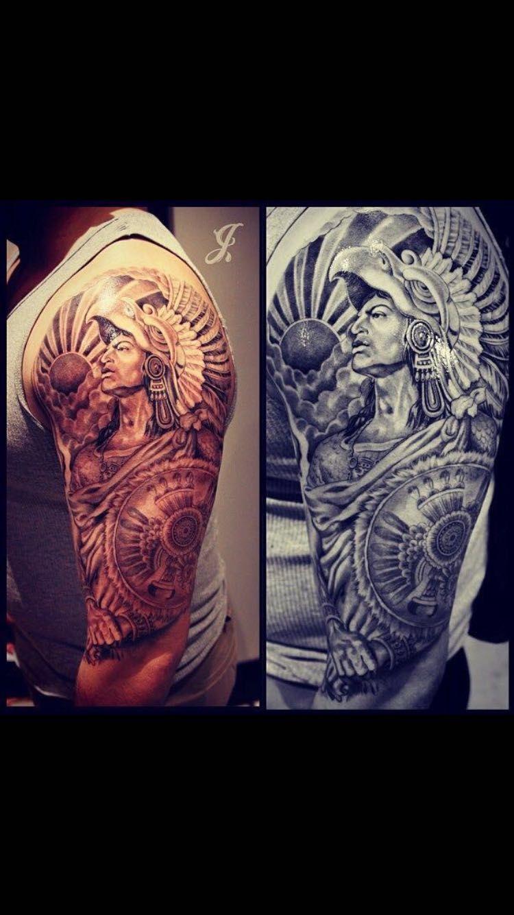 Idea By Mia Valdivia On Tattoos Aztec Warrior Tattoo Aztec