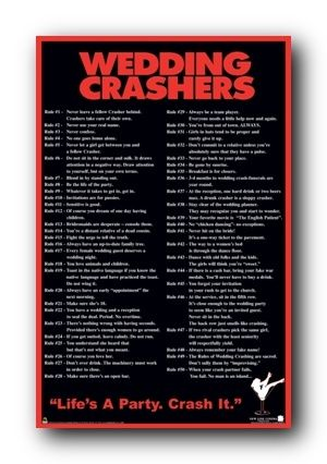 The 100 Rules By Chazz Reinhold Wedding Crashers Rules Wedding Crashers Party