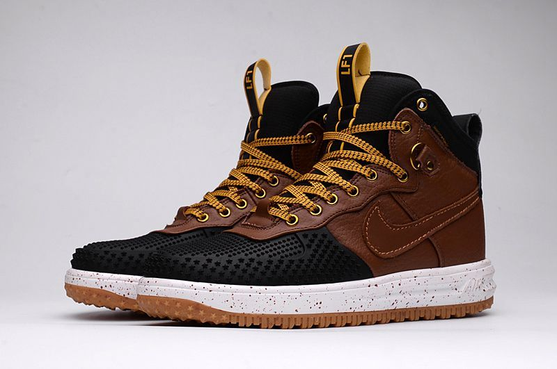 the best attitude 43bf9 3b1d3 Nike Lunar Force 1 High Men DUCK BOOT Black Brown