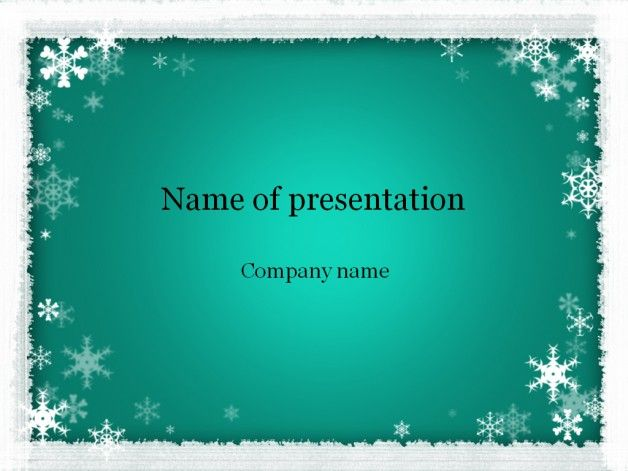 Winter Powerpoint Template Templates Pinterest Templates