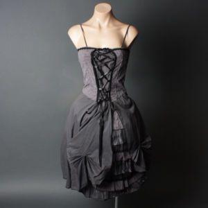 details about goth victorian corset petticoat crochet