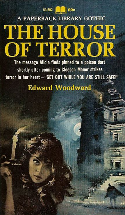 Gothic Romance Book Covers : Edward woodward the house of terror vintage gothic