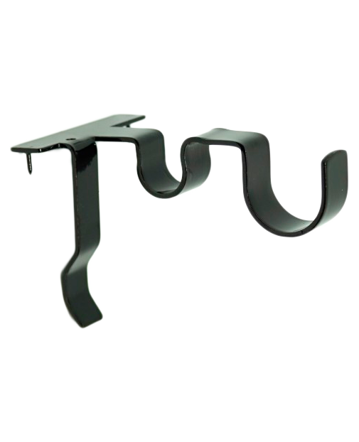 Double Center Support Curtain Rod Bracket In 2020 Curtain Rod