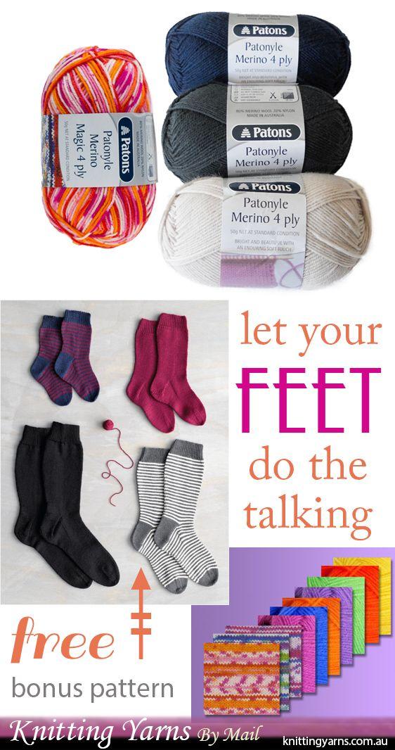 Get this bonus Patons sock knitting pattern free with Australian ...