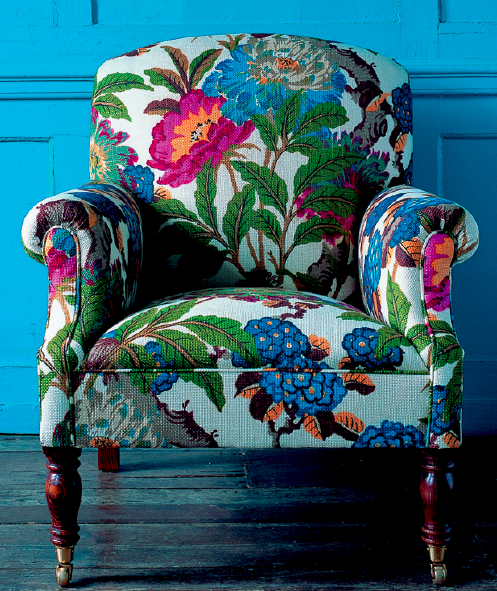 Outstanding Great Use Of A Floral Pattern Decor Upholstered