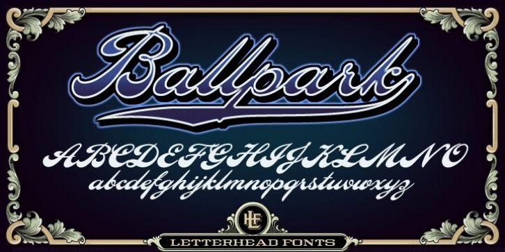 Download LHF Ballpark Script™ font download | Script fonts download ...