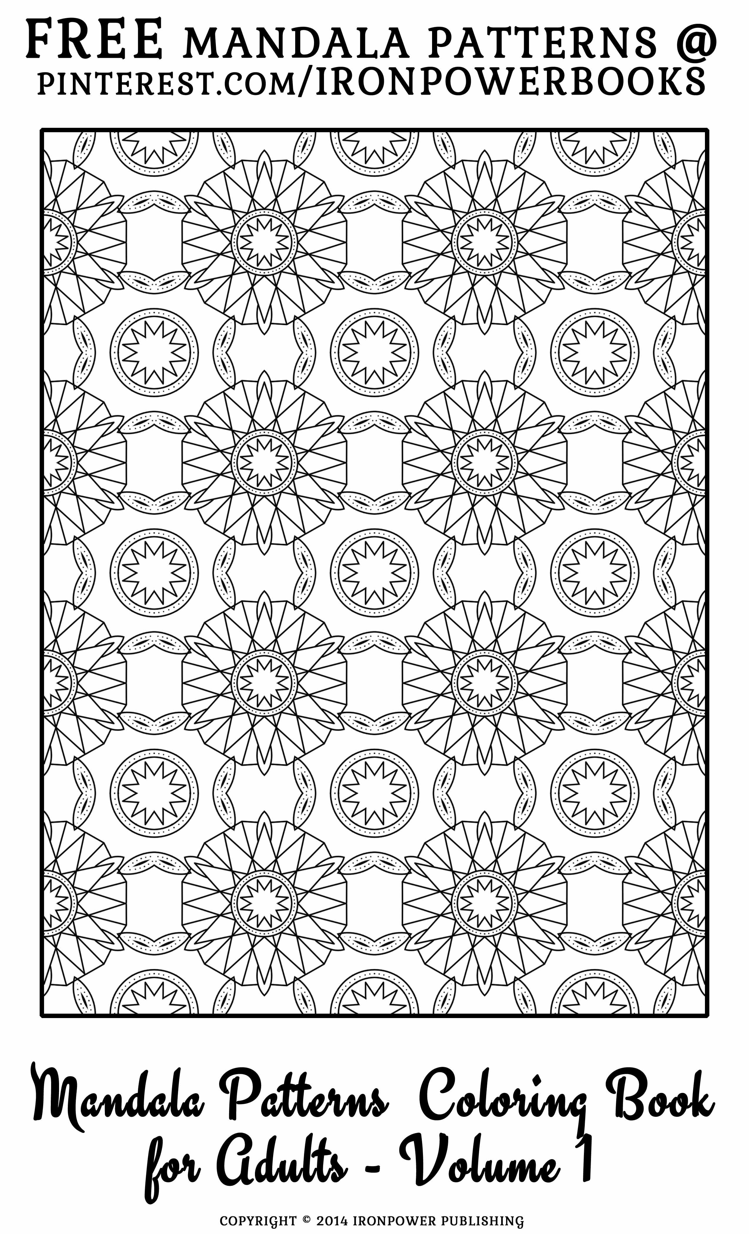 FREE Mandala Pattern Coloring Page From Patterns Book For Adults