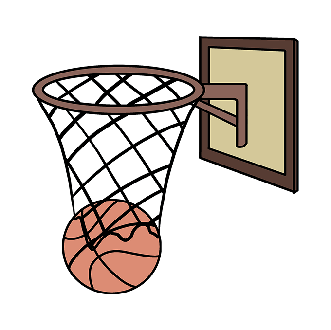 How To Draw A Basketball Hoop Really Easy Drawing Tutorial Easy Drawings Drawing Tutorial Easy Basket Quilt