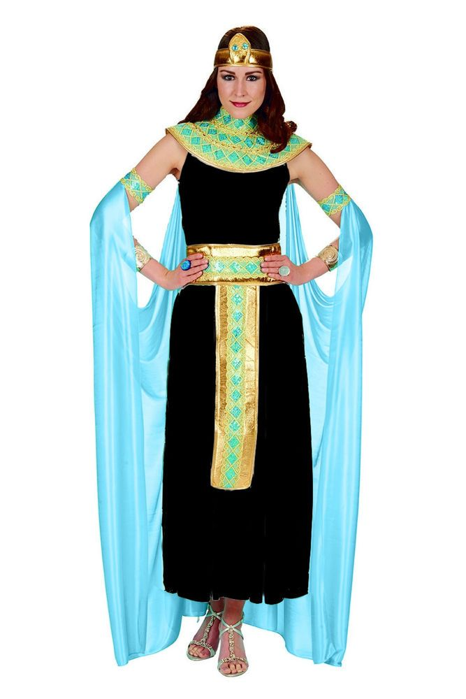Kleopatra Schwarz Turkis 4tlg Kostum Kleid Fasching Karneval