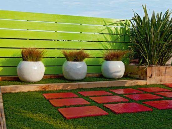 sichtschutz im garten - farbige akzente Garten Pinterest Gardens