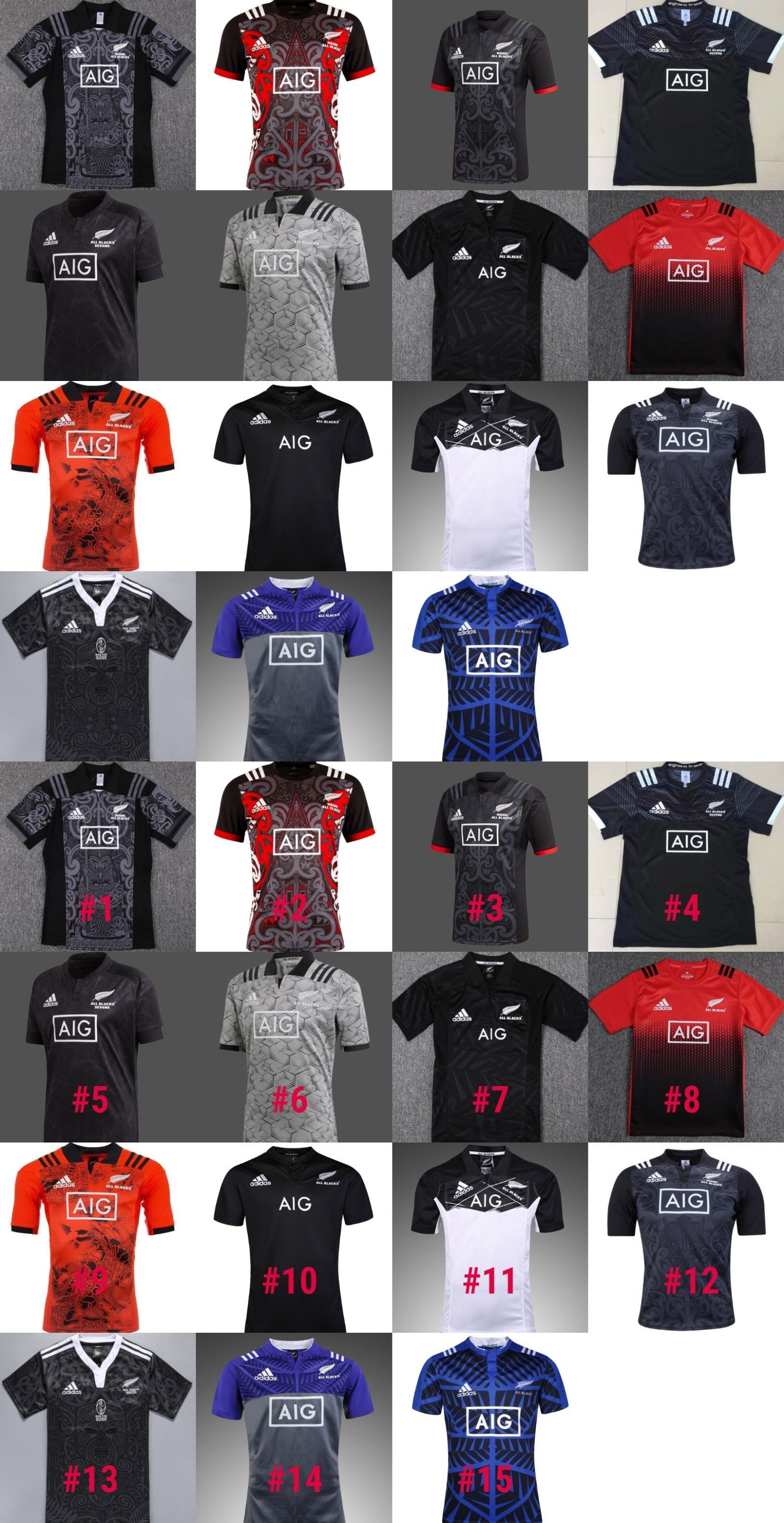 bf9a8ff7b Rugby 21563  New Zealand Maori All Blacks 2016-2019 Rugby Jersey Shirt 15  Models