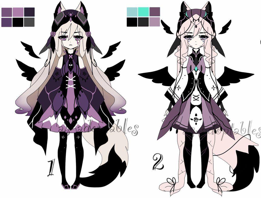 Witch kemonomimi batch adoptable open 1/2 by AS-Adoptables.deviantart.com on @DeviantArt