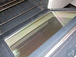 How to clean the oven glass the easiest way oven doors and clean the oven door with baking soda and water let sit for 20 min planetlyrics Image collections