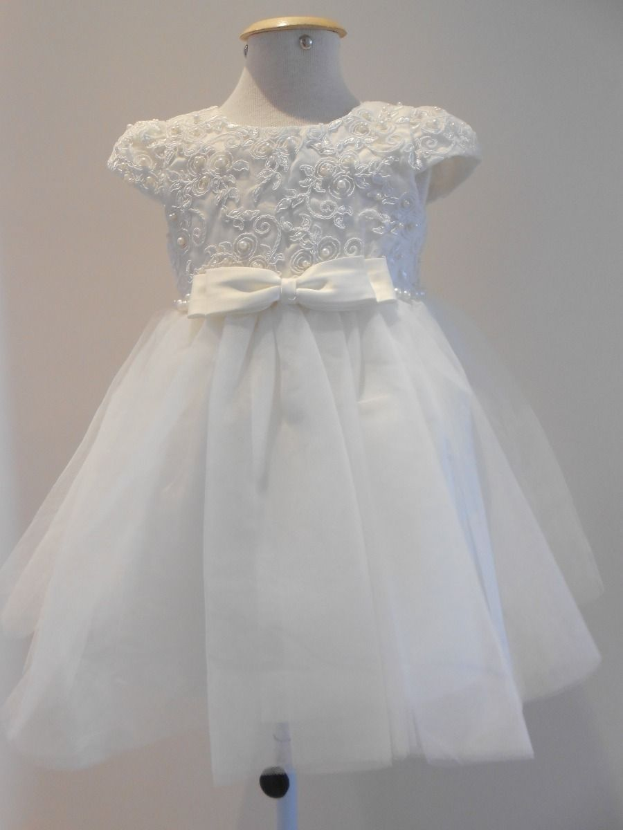 c468484c8 Vestido Branco Bordado Dama De Honra - MercadoLivre   bv   Vestido ...
