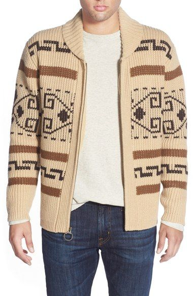 9d04175b0462c9 Pendleton 'Original Westerly' Shawl Collar Zip Sweater available at  #Nordstrom