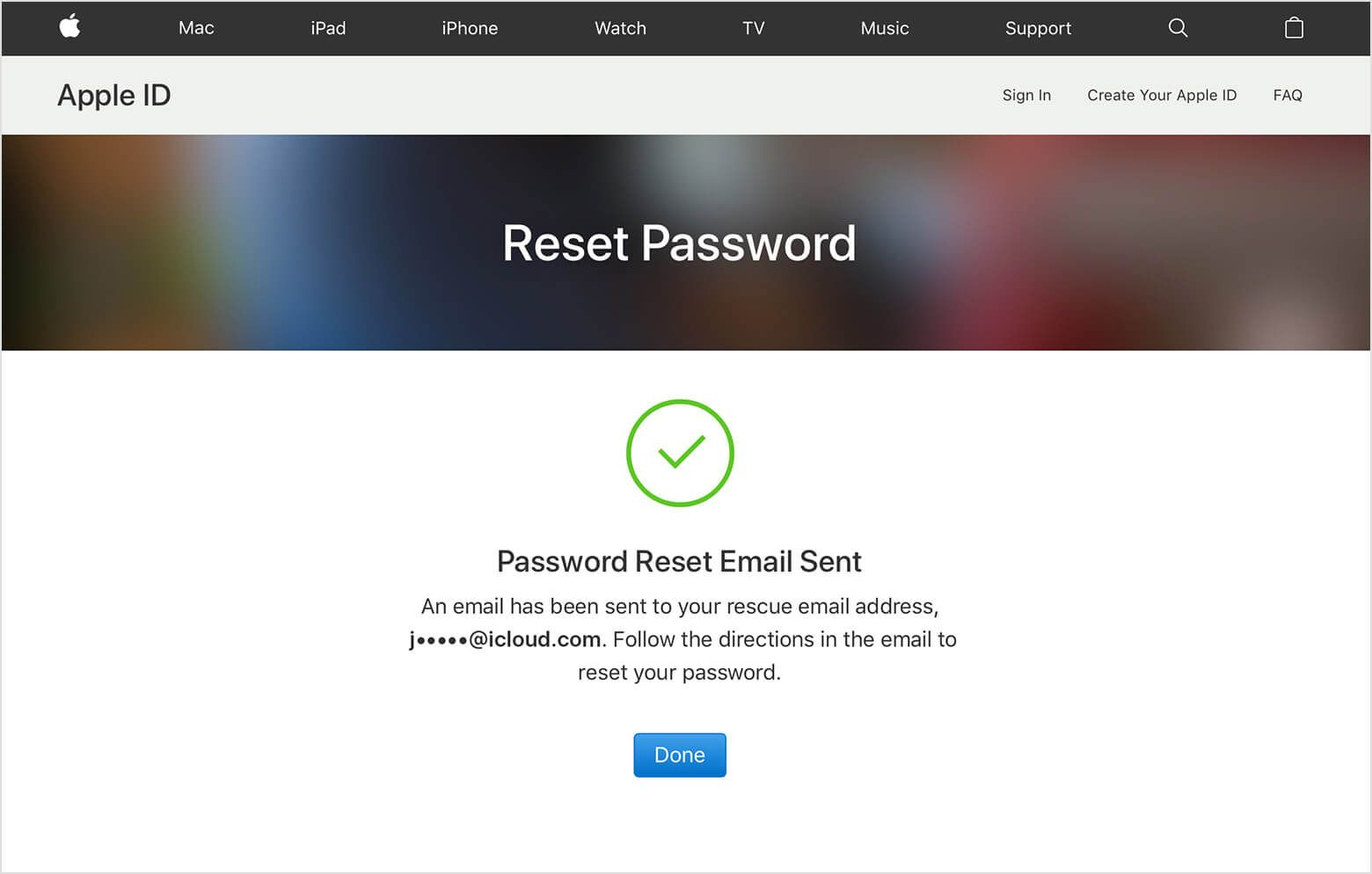 Want to Contact to Apple Mail Password reset phone number