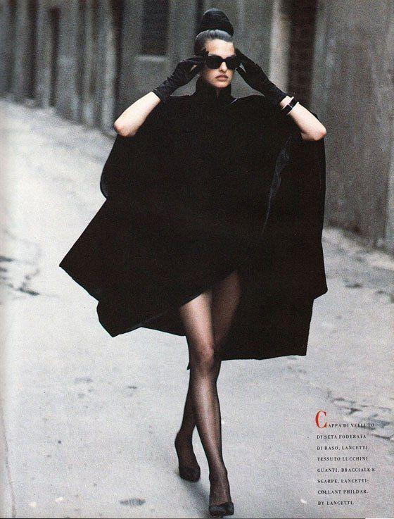 Linda Evangelista by Peter Lindberghfor Vogue Italia September 1988