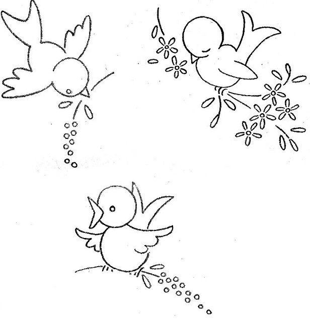 littlebirds | Costura | Bordado, Dibujos para bordar, Patrones
