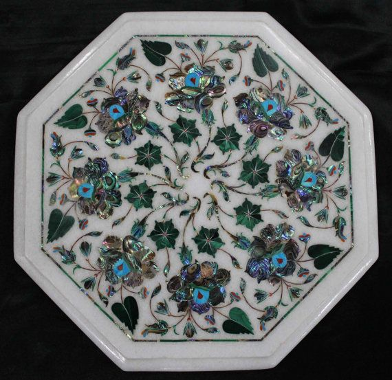Marble Coffee Table Top Semi Precious Stone Inlay Work Sofa Table Decent Look in Your Home Decor