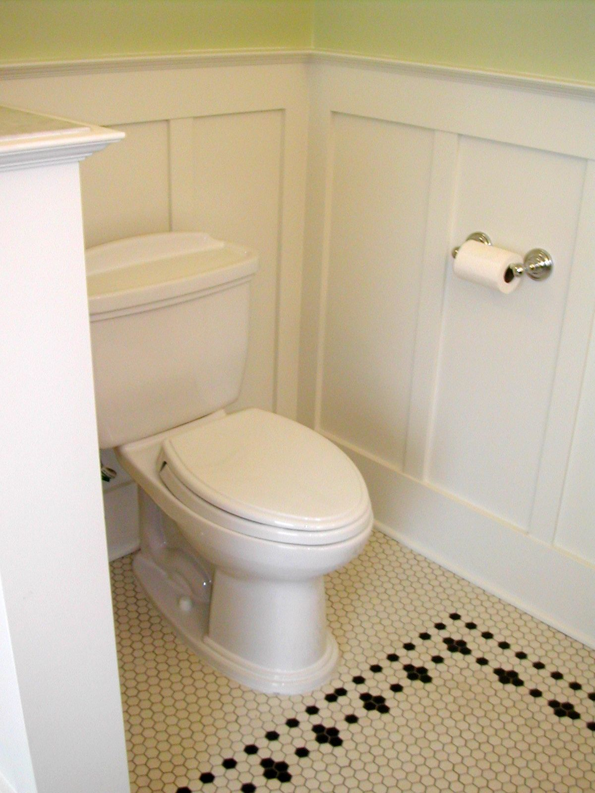 Wainscotting Hex Tile And Simple Fixtures Are Great Turn Of The - 1900 bathroom remodel
