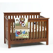 Baby Cache Essentials Flat Lifetime Convertible Crib Chestnut