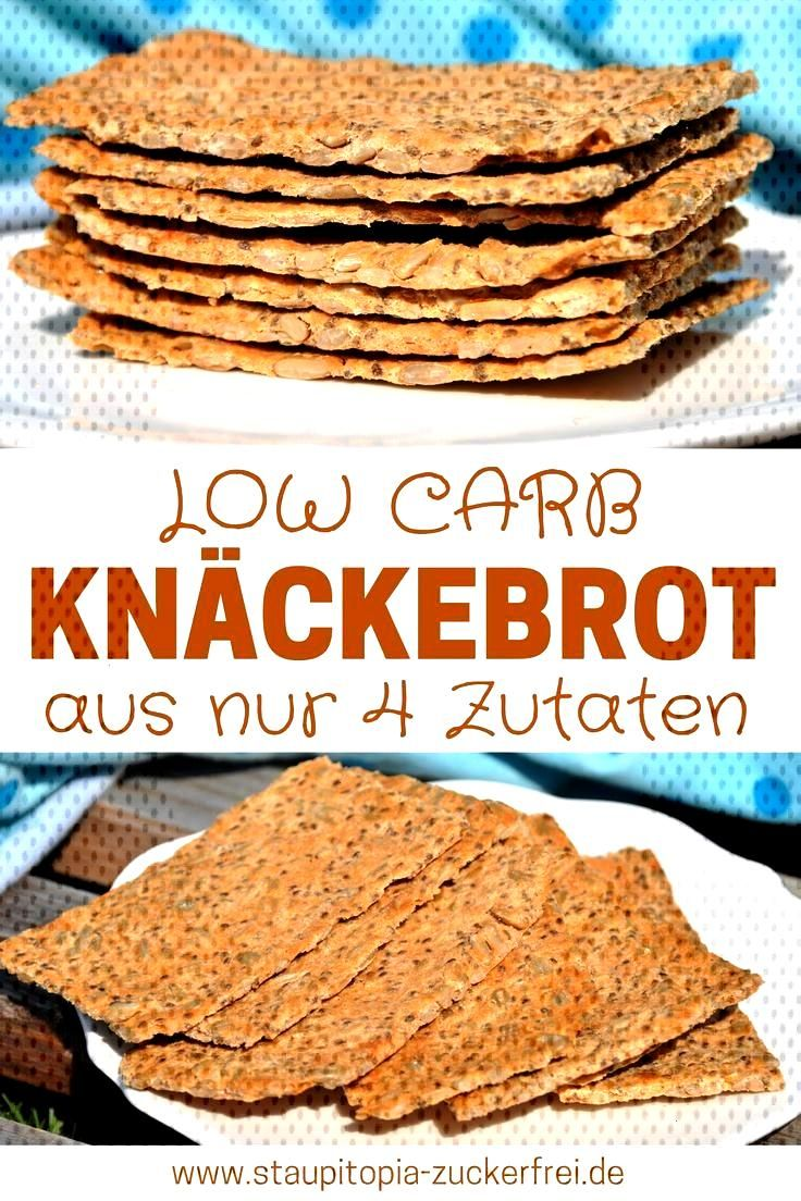 Now it's crunching! Low carb crispbread with only 4 ingredients - Staupitopia sugar free -  You don