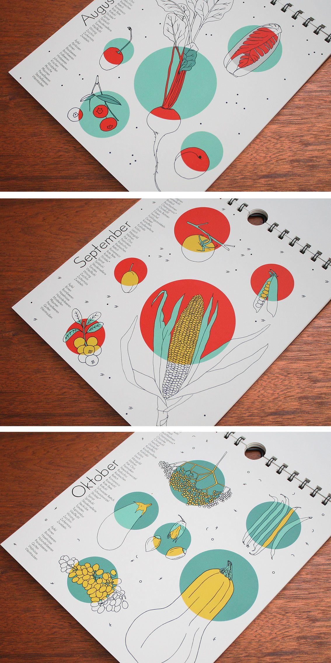 saisonkalender polypodium graphic design design genius pinterest grafik design. Black Bedroom Furniture Sets. Home Design Ideas