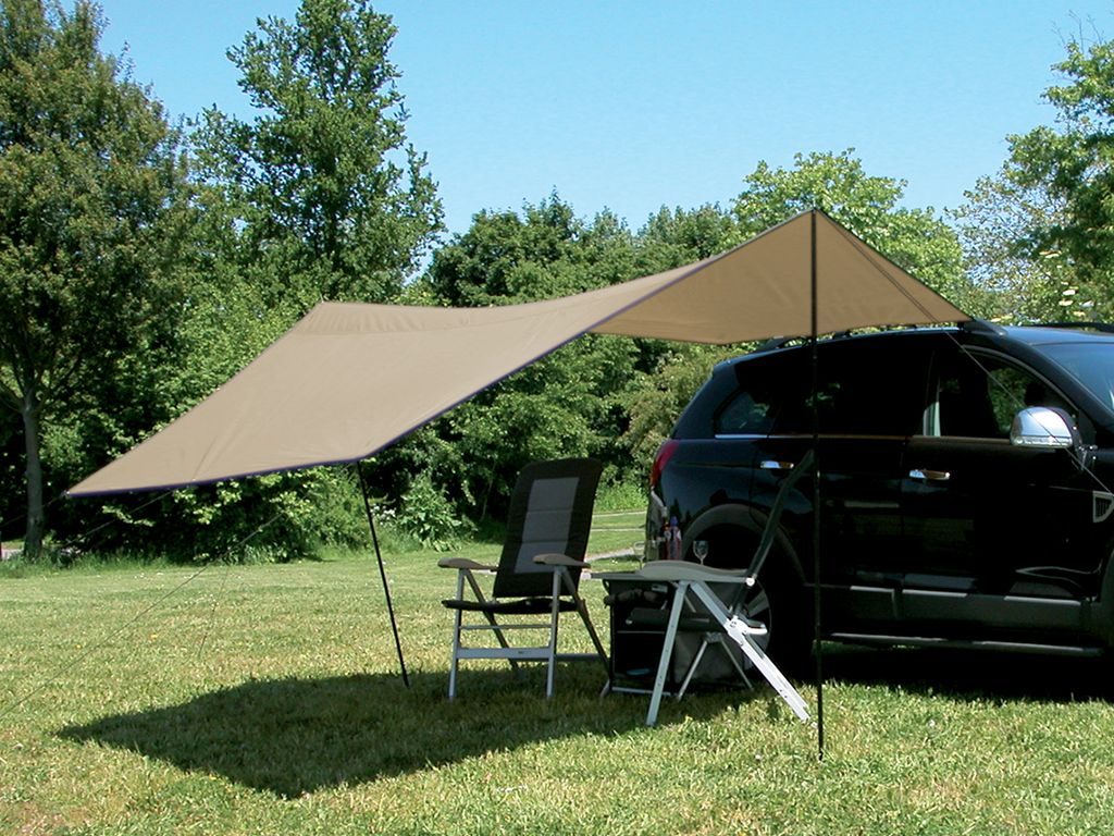 This Tarp Can Be Mounted To The Cars Roof Rack Easily With