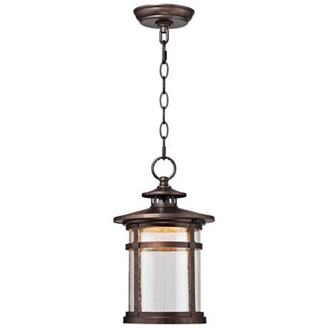 Callaway rustic bronze 13 1 2 high led hanging light 1f980