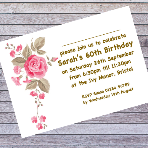 Party Invitations for Birthday, Engagement, Anniversary