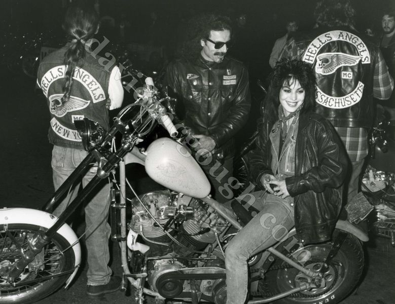 Joan Jett and the Hells Angels, 1985. Always loved this pic.